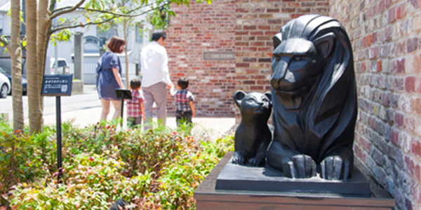 デザイン統一後のライオン像